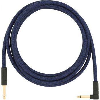 Instrumentinis laidas Fender 10' ANGLED FESTIVAL INSTRUMENT CABLE, BLUE DREAM