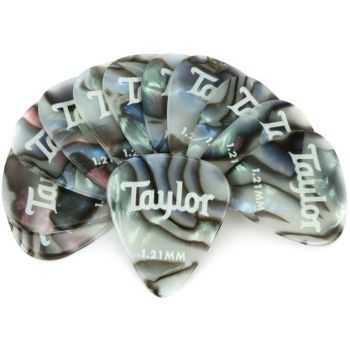 Brauktukai Taylor Premium Celluloid Picks Abalone 1,21mm 12vnt. 80737