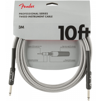 Instrumentinis laidas Fender 3 m. White Tweed