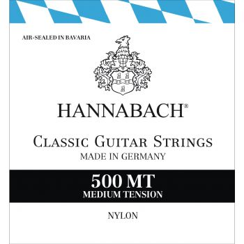 Classical guitar strings medium tension HANNABACH 500 MT 652237