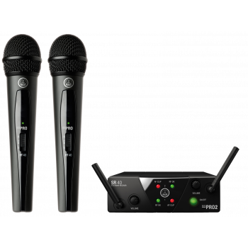 Bevielis mikrofonas AKG WMS40 Mini Dual Vocal Set (537.500 + 539.300 MHz)