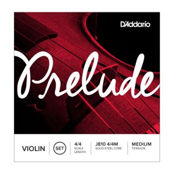 Violin strings 4/4 D'Addario Prelude J810 4/4M Medium