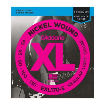 D'Addario Nickel Wound .045-.130 EXL170-5