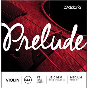 Violin strings 1/8 medium D'Addario Prelude J810 1/8M