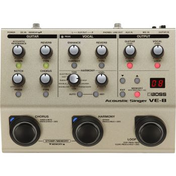 Vocal and guitar processor BOSS VE-8