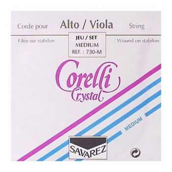 Viola strings Savarez Corelli Crystal, Medium Tension 730M