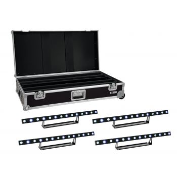 EUROLITE Set 4x LED STP-7 Beam/Wash Bar + Case