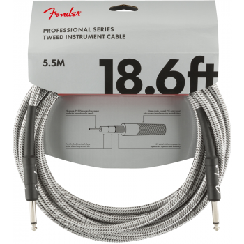 Instrumentinis laidas Fender 5,5 m. White Tweed